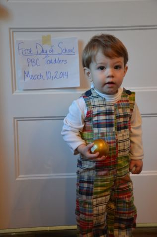 Will's first day of Toddlers
